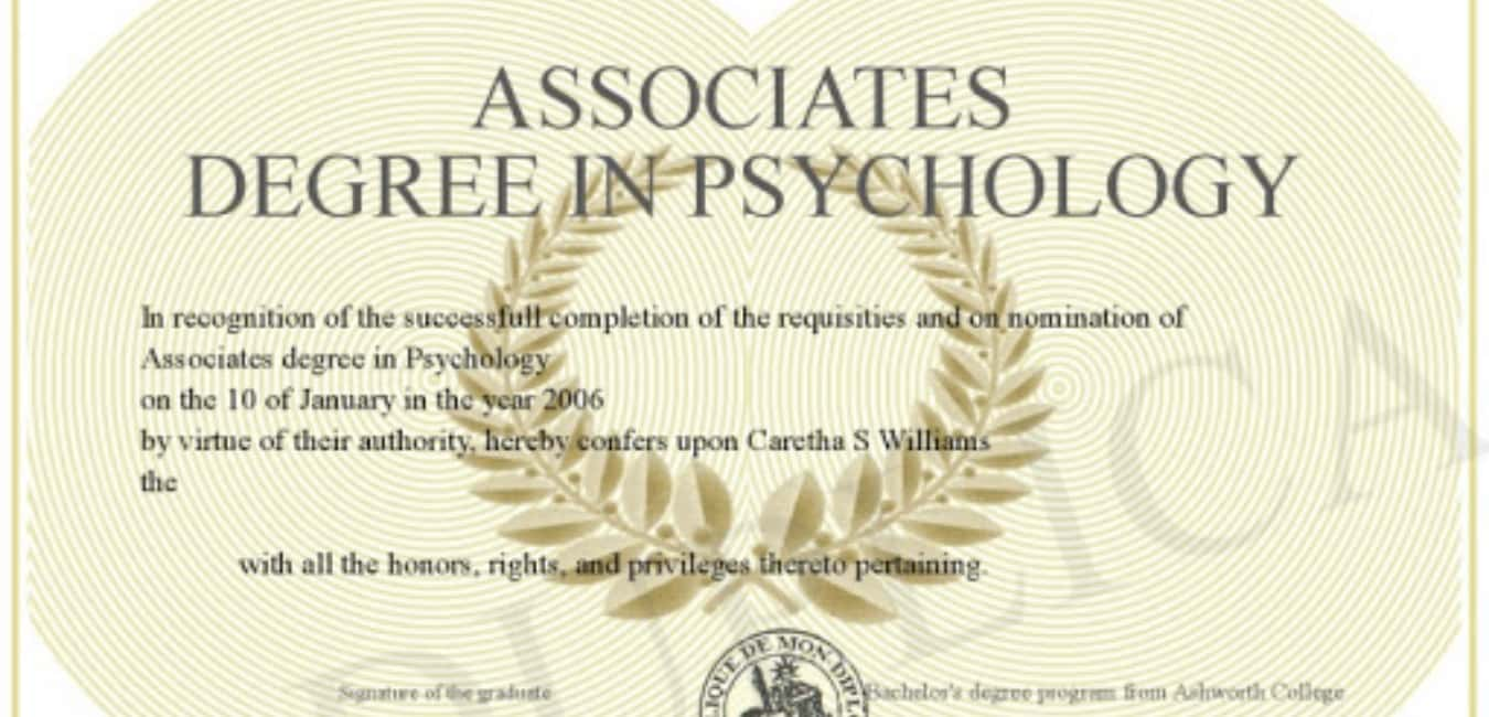 Accelerated Online Associate in Psychology