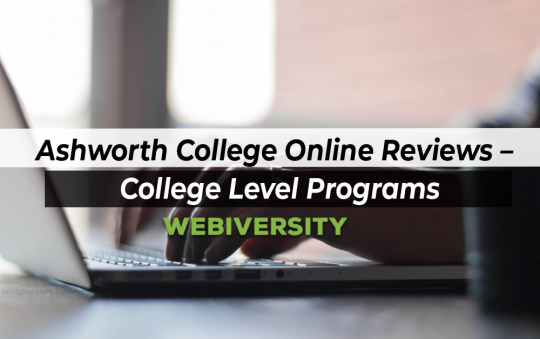 Ashworth College Online Review – College Level Programs