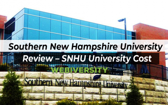 Southern New Hampshire University Review – SNHU University Cost