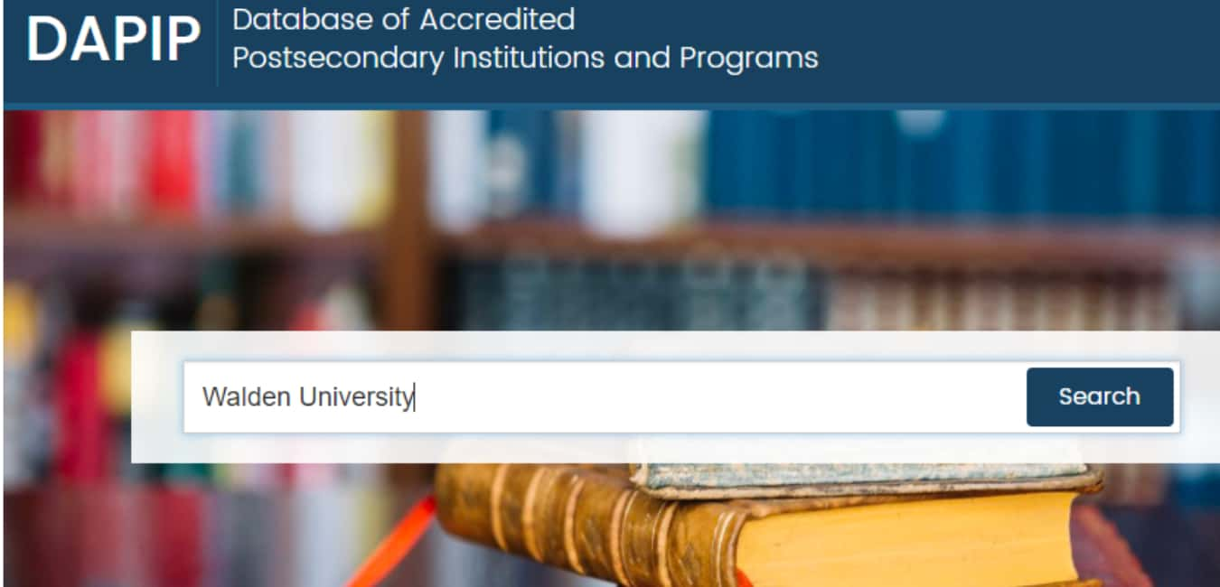 Check the accreditation of online College