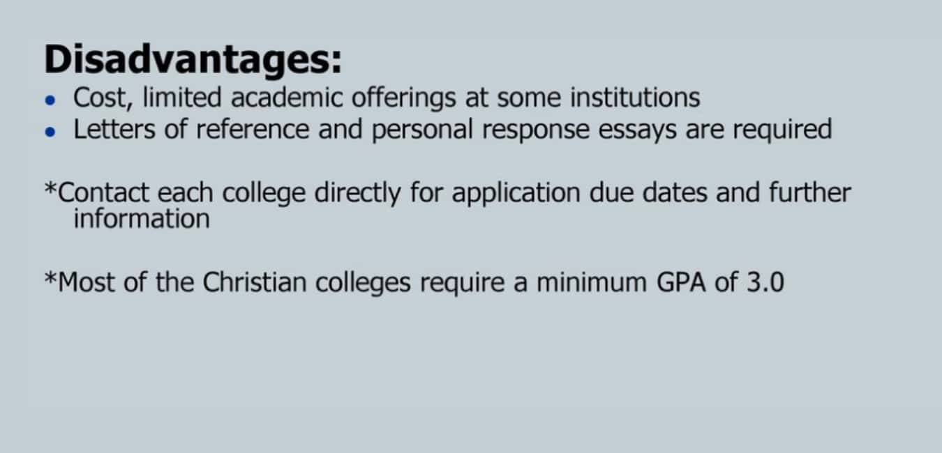Four Year College - Disadvantages
