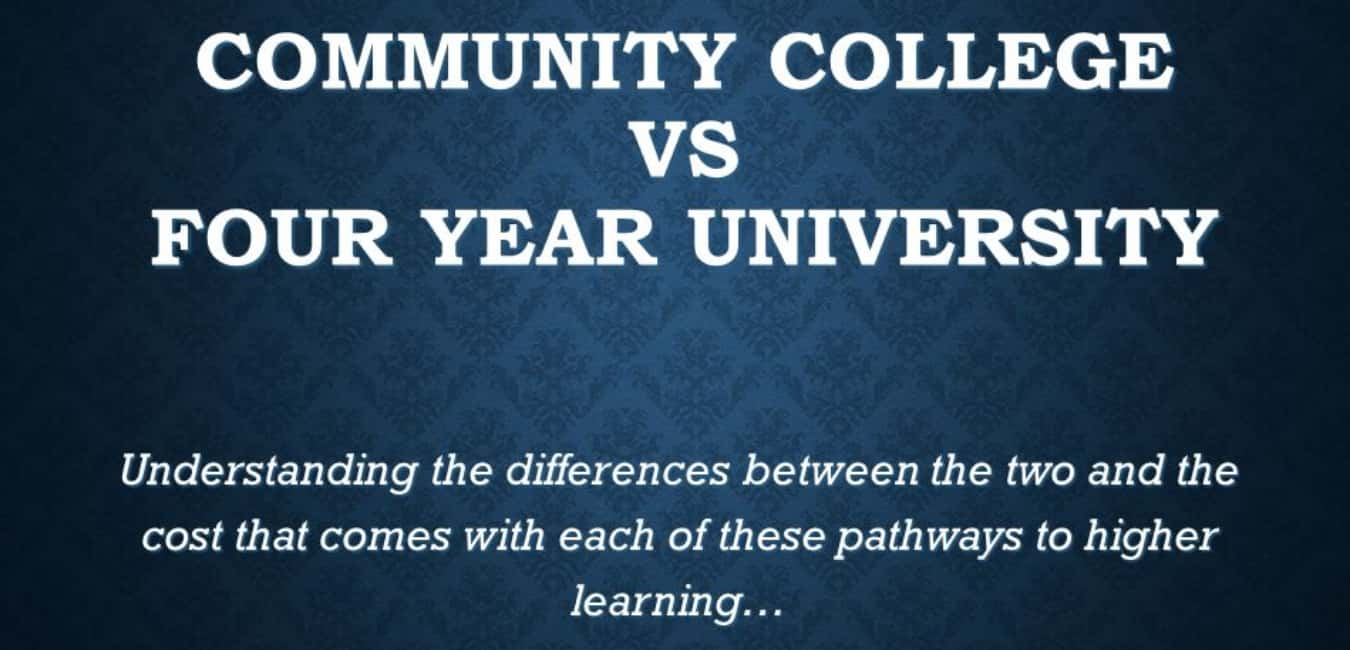 How is community college different from university