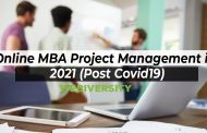 Online MBA Project Management in 2021 (Post Covid19)