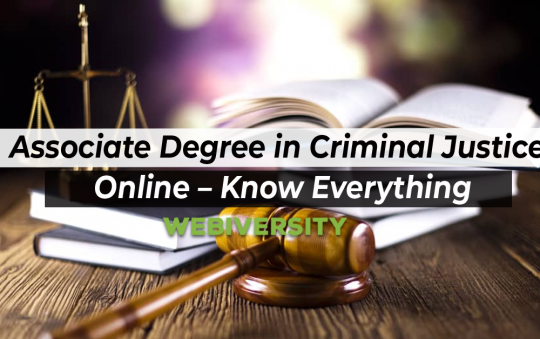 Associate Degree in Criminal Justice Online – Know Everything